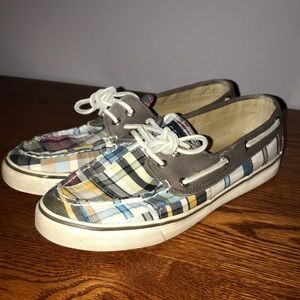 Sperry Bahama 2 Patchwork Plaid Boat Shoe
